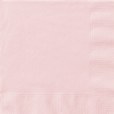 20 Pink Paper Party Beverage Napkins